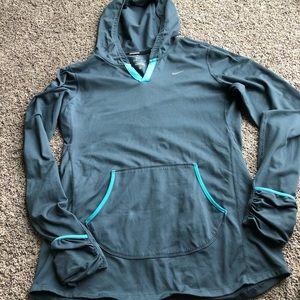 Nike Running Dri-Fit Hooded Long Sleeve Top